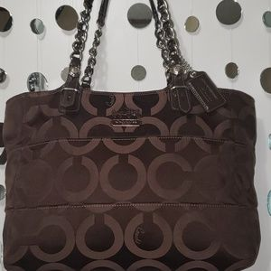 Coach Madison brown opt art purse